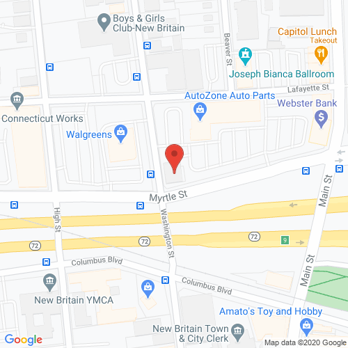 Map of Sutton Dental in New Britain CT