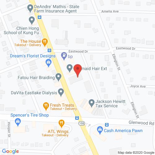 Map of Franklin Dental in Decatur GA