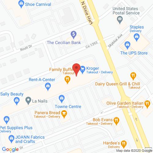 Map of Ruby Dental in Elizabethtown KY