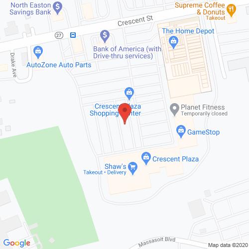 Map of Cortland Dental in Brockton MA