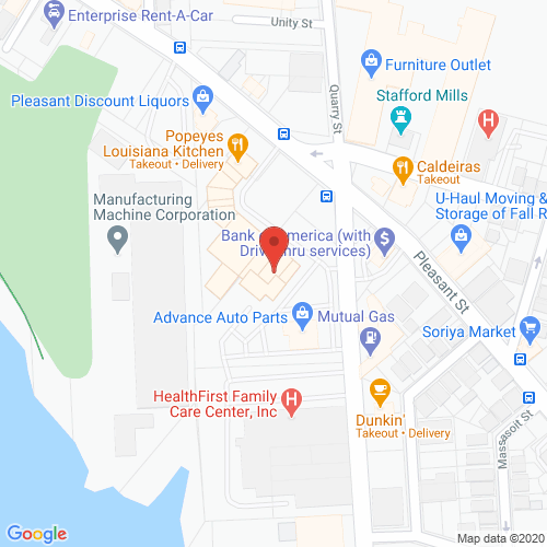 Map of Cortland Dental in Fall River MA