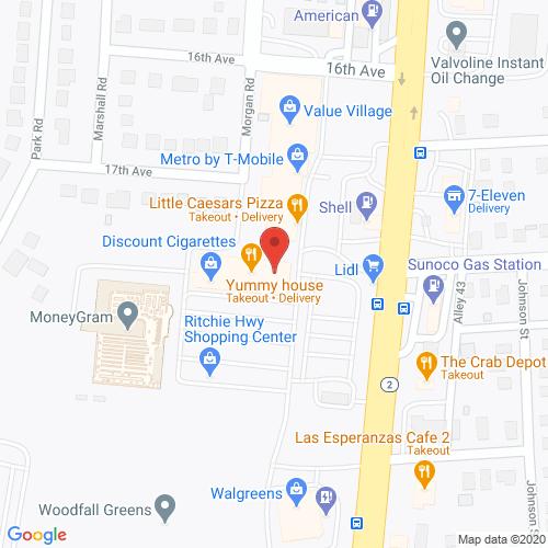 Map of Porter Dental in Brooklyn Park MD