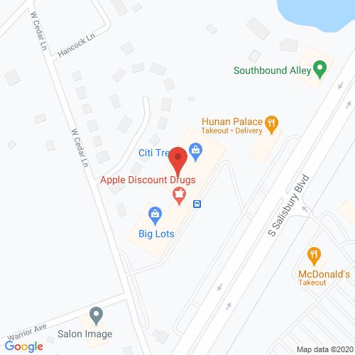 Map of Porter Dental in Salisbury MD