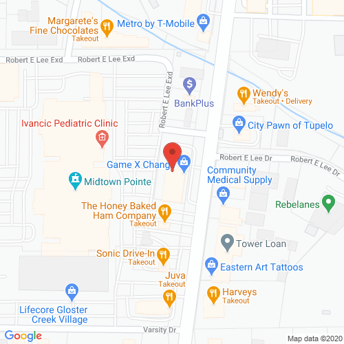 Map of Sunnybrook Dentistry in Tupelo MS