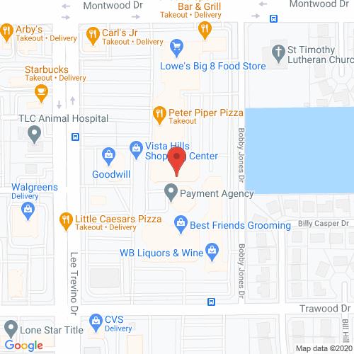 Map of Pinova Dental in El Paso - Lee Trevino TX
