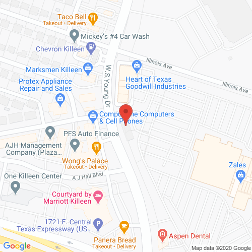 Map of Topaz Dentistry in Killeen - WS Young TX