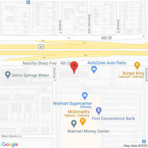 Map of Allington Dental in Lubbock - Overton TX