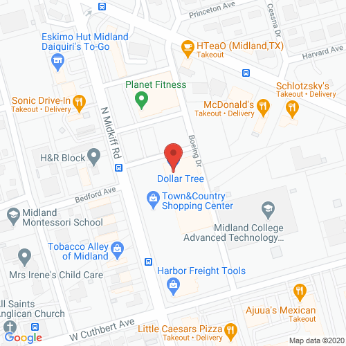 Map of Allington Dental in Midland TX