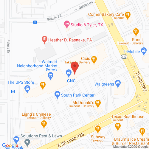 Map of Goodland Dentistry in Tyler - South Loop 323 TX