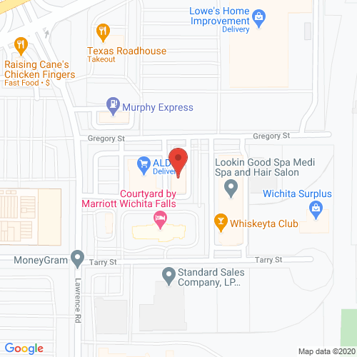 Map of Jubilee Dental in Wichita Falls TX