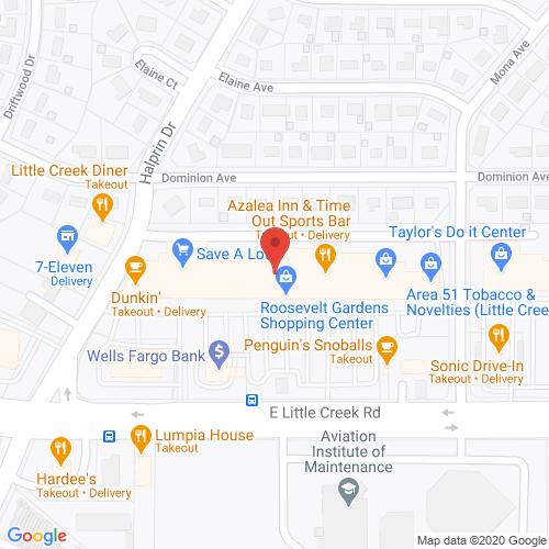 Map of Spencer Dental in Little Creek VA