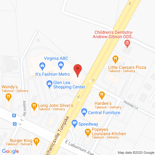 Map of Spencer Dental in Mechanicsville VA